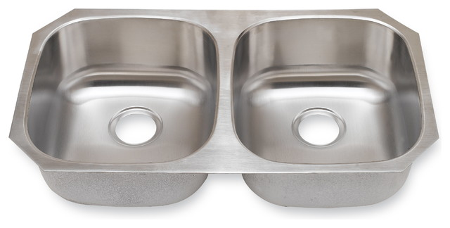 Undermount Double Bowl Sink, 34""