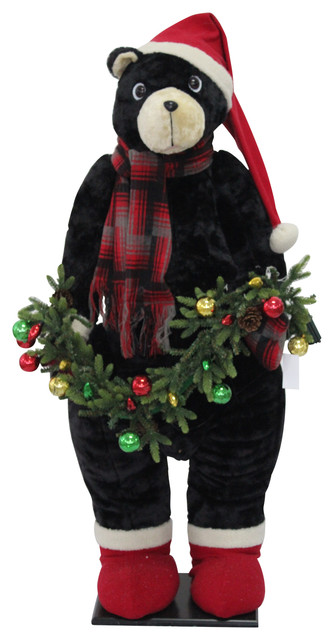 Large 52 Inflatable Bear Indoor Decor With Music And Led Lights.