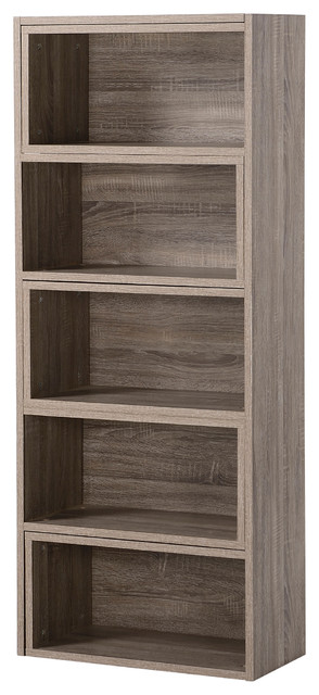 Homestar Expandable Shelving Console, Reclaimed Wood.