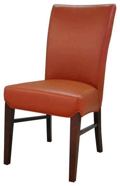 Milton Bonded Leather Chair Transitional Dining Chairs