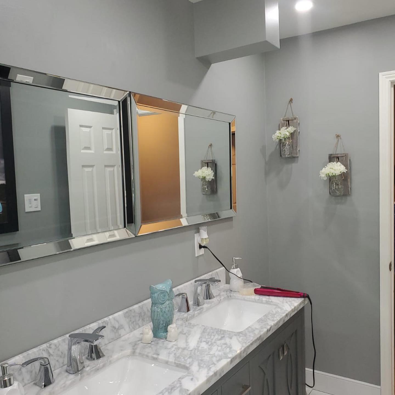 Contemporary Grey Bathroom Remodel