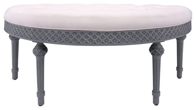 Curved Upholstered Bench Guildmaster 654005m-15. -1