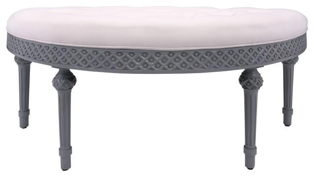 Curved Upholstered Bench Guildmaster 654005m-15.