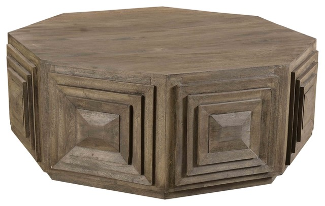 Gamble Coffee Table Transitional Coffee Tables By Moti Houzz