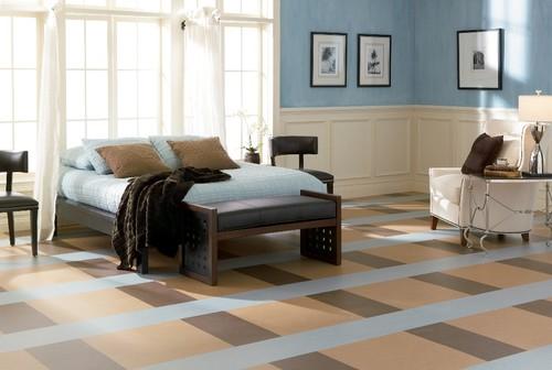contemporary floors Marmoleum brand linoleum sheet flooring from Forbo