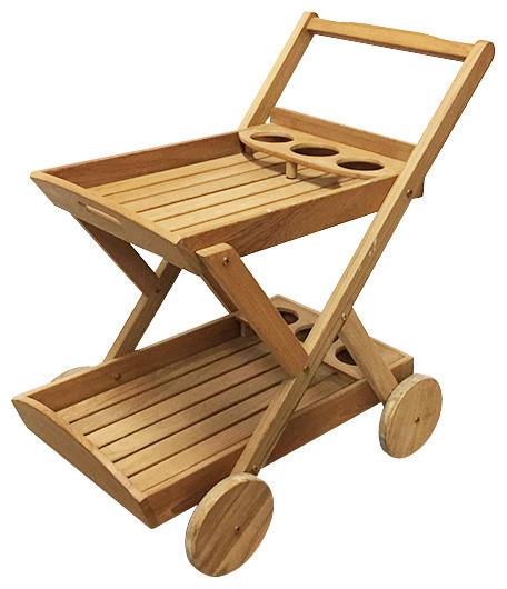 Teak Trolley Cart, Grade A.
