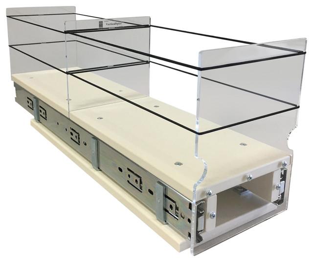 5x1x22 Storage Solution Drawer, Cream.