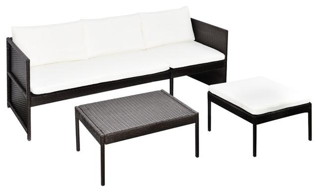 Vidaxl Lounge Set Poly Rattan Wicker Brown Garden Seating Sofa Patio Outdoor