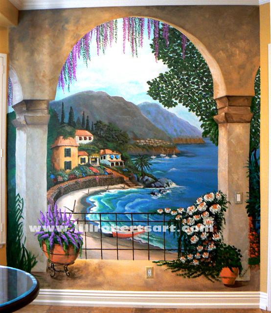 Kitchen Wall Mural - Oceanside - Mediterranean - San Diego ...