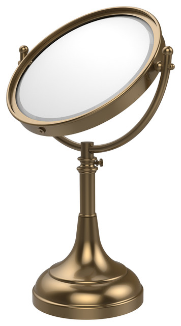 "8"" Mirror 3x Mag 17-23-1/2"" H, Brushed Bronze."