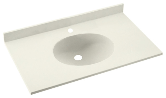 "Swan 22""x61"" Ellipse Vanity Top, Bisque."