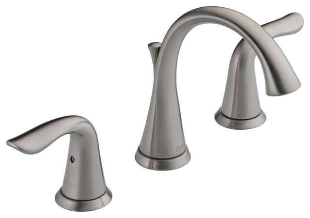 Delta Faucet 3538 Mpu Dst Lahara Polished Chrome Two: Delta Lahara 2-Handle Widespread Faucet, Metal Pop-Up