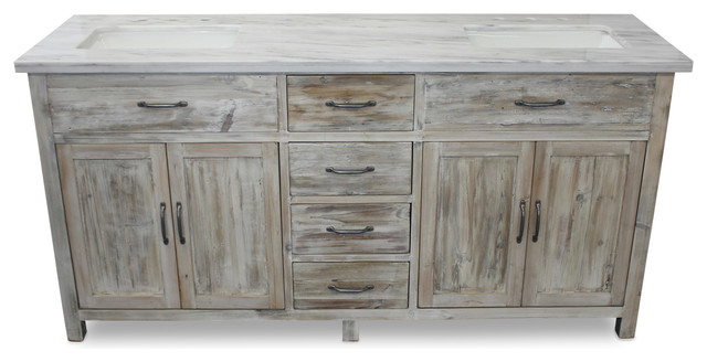woodland italian carrara marble, white washed pine, 72