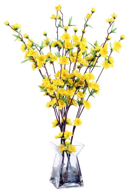 Silk Roses With Ferns Arrangement
