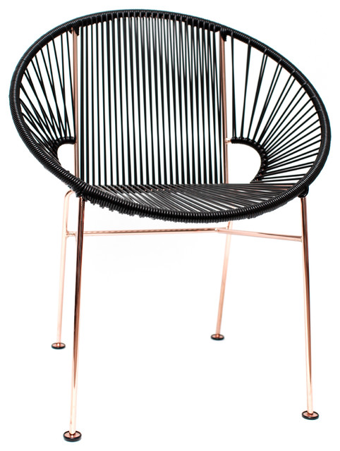 Concha Vinyl Cord Chair With Copper Frame Contemporary Dining Chairs By Etriggerz