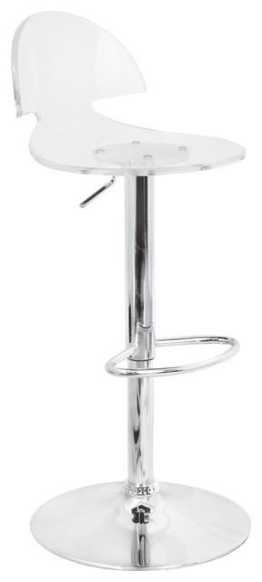 Sensational Lumisource Venti Barstool Clear Evergreenethics Interior Chair Design Evergreenethicsorg