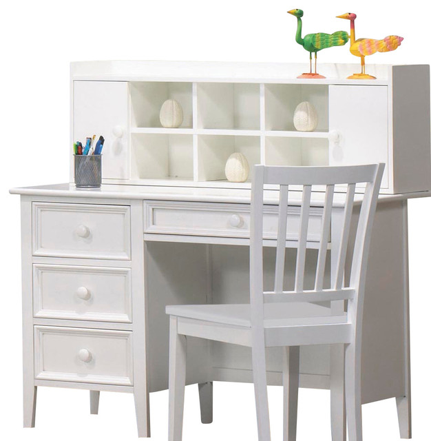 Homelegance Whimsy 4 Drawer Kids Desk With Hutch And