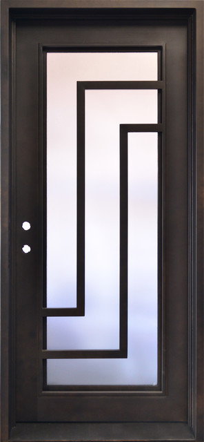 High End Exterior Single Wrought Iron Door