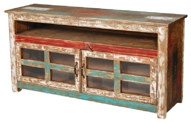 separation shoes 6549d af261 Rustic Reclaimed Solid Wood TV Console