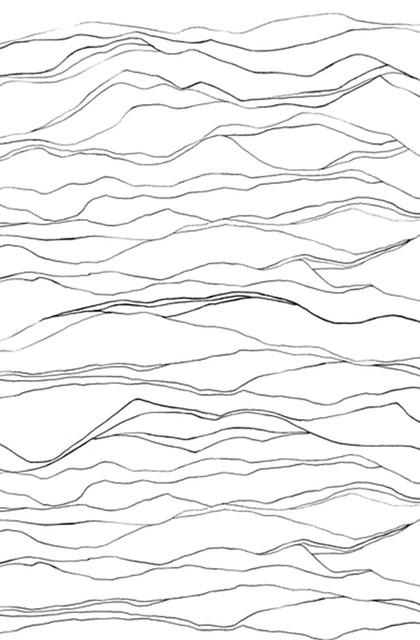 Richter Wallpaper, Charcoal, Sample.