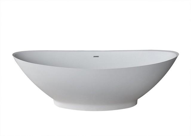"Atlantis Whirlpools Lucea 34""x73"" Artificial Stone Freestanding Bathtub."