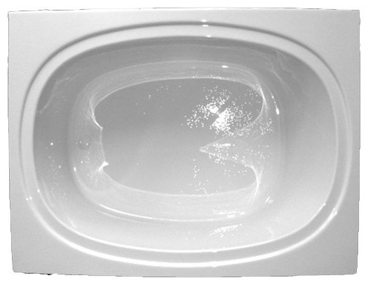 American Acrylic And Injection Oval Whirlpool Tub, White.