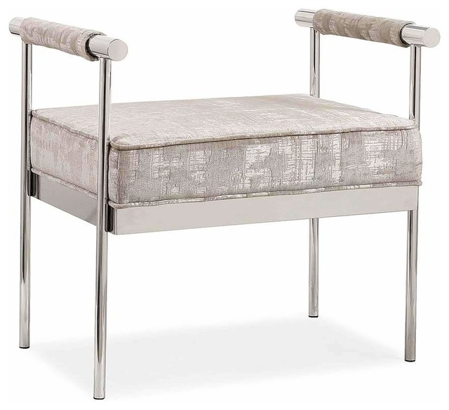 Diva Cream Textured Bench. -1