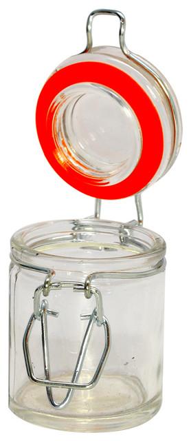 Nostalgic Clamp Lid Glass Mason Jar 8.5 Oz 10-Count Box.