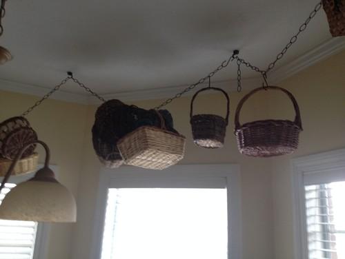 Hanging Baskets In Kitchen