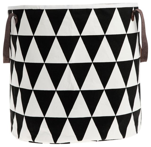 "Triangle Organic Cotton Basket, 2 Sizes, Triangle Basket, 14""x15.75"""