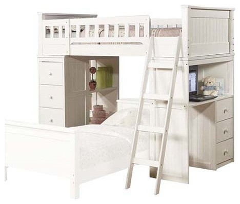 Arabela Loft Bed, Twin, White.