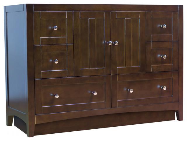 Modern Plywood-Veneer Vanity Base Set Only, Walnut.