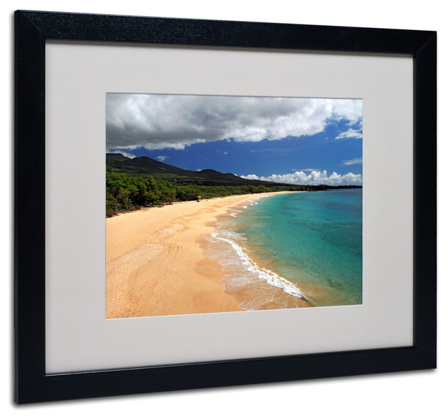 Makena Maui Matted Framed Canvas Art By Pierre Leclerc