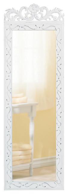 Elegant White Wall Mirror.