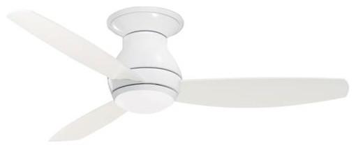 """52"""" Curva Sky Ceiling Fan, Gloss White."""