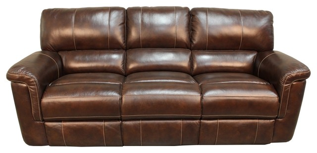 Parker House Hitchcock Dual Power Recliner Sofa, Cigar