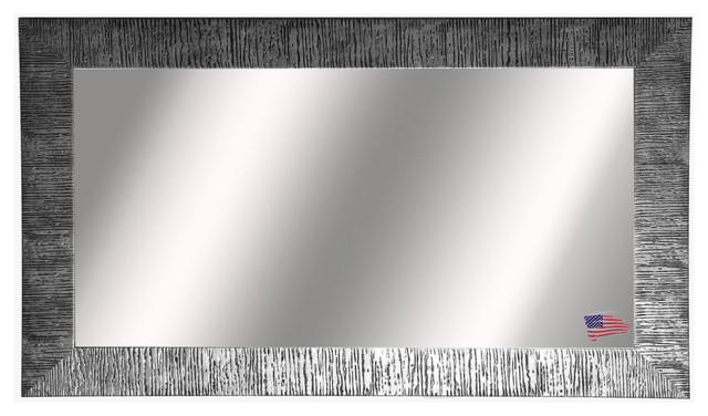 """Owen Silver Double Bathroom Vanity Wall Mirror, 33""""x62""""."""