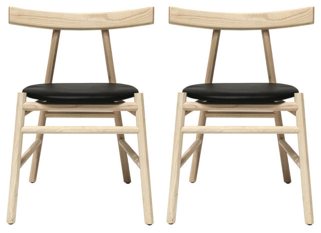 Ronin Dining Chairs, Set of 2, Natural Ash