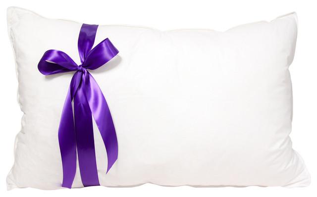 The Original Queen Anne Pillow 100% Down Pillow, White, Standard, Soft