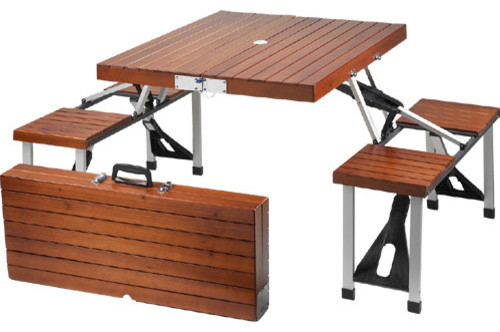 Picnic at Ascot Portable Wooden Picnic Table - Contemporary - Outdoor  Dining Tables - by FactoryDirect2you - Picnic At Ascot Portable Wooden Picnic Table - Contemporary