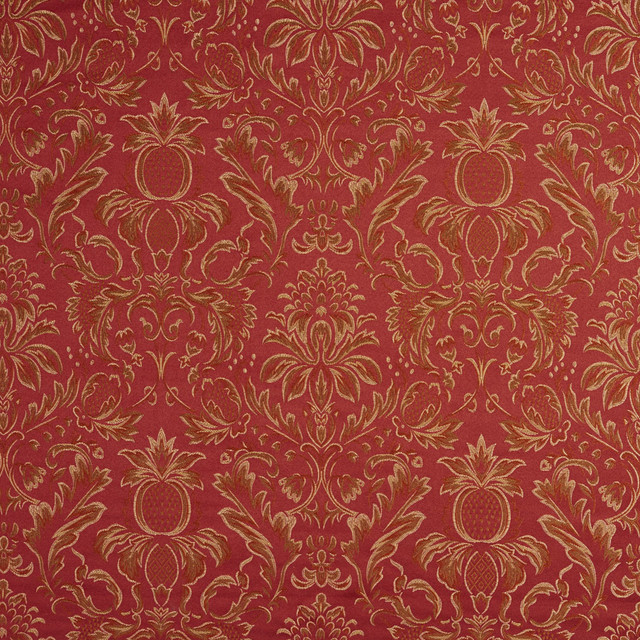 Red And Gold Upholstery Fabric Tyres2c
