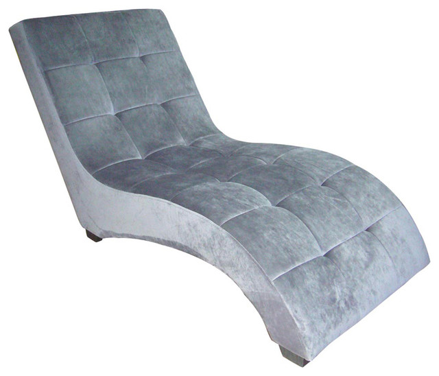 Ore Modern Chaise Gray Gray Contemporary Indoor Chaise Lounge Chairs