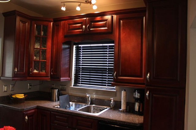 Brown Kitchen Cabinets Pacifica Door Style Kitchen » Home Design 2017