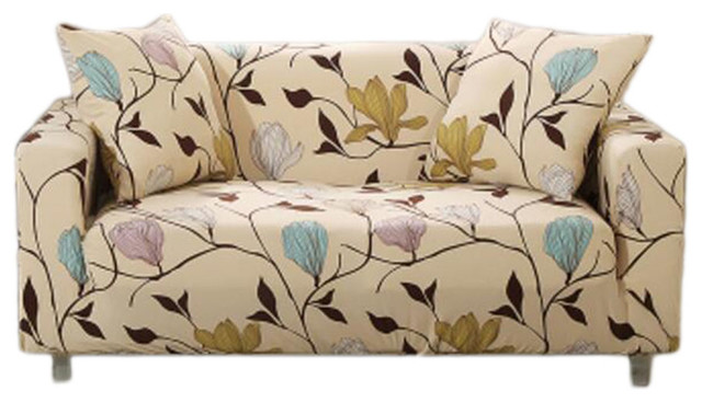 Double Sofa Cover, Elastic Sofa Couch Throws Slipcovers, Dustproof Sofa  Cover