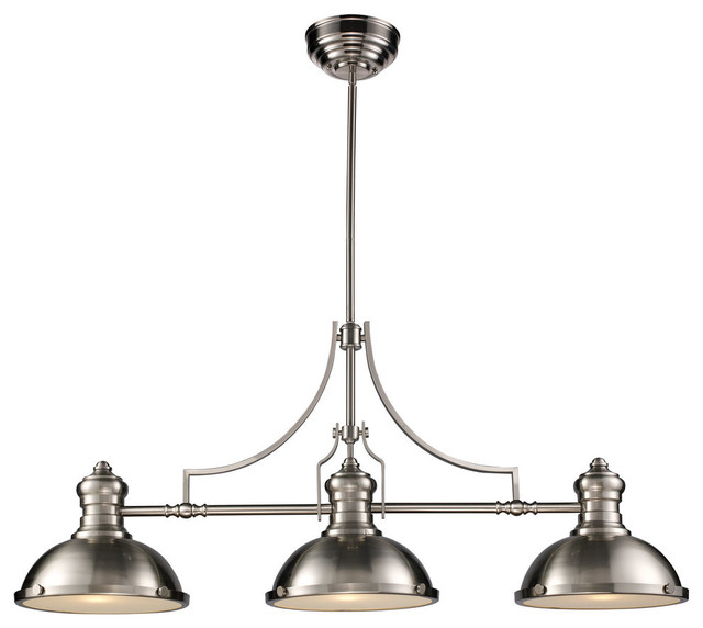 chadwick 3light light satin nickel