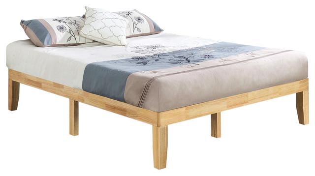 newest 5093d c5042 Full size Solid Wood Platform Bed Frame in Natural Finish