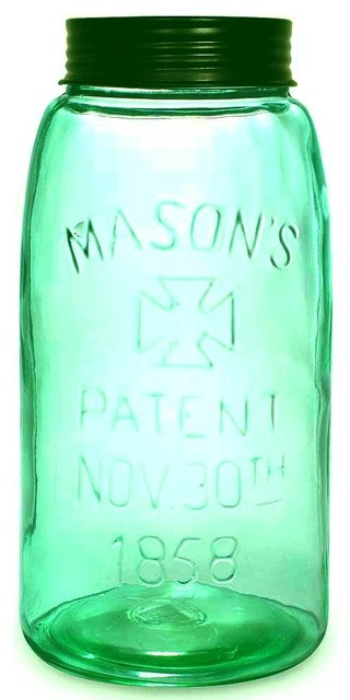 Unique Vintage Replica Big One Gallon Mason&x27;s Patent Fruit Jar.