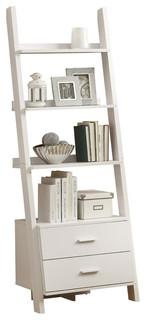 Felina Ladder Bookcase, White