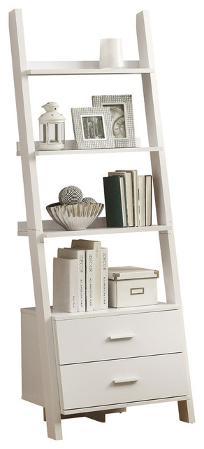 Felina Ladder Bookcase, White.