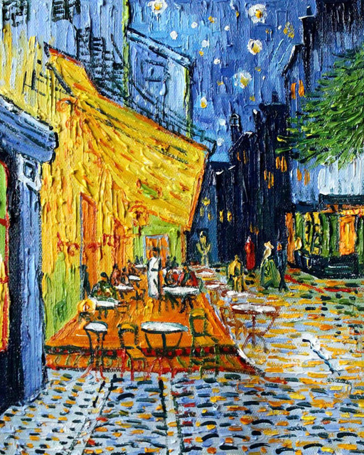 Van Gogh Cafe Terrace At Night Modern Paintings By